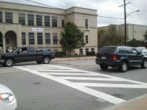 washington road crosswalk